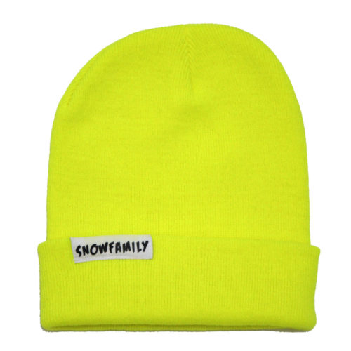 snowfamily beanie yellow